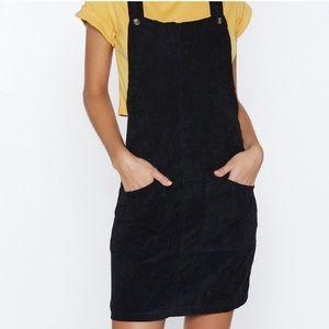 BRAND NEW Nasty Gal Corduroy Overall Dress
